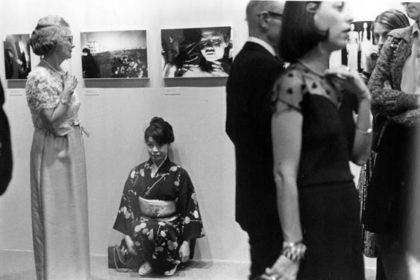 Masahisa Fukase: Yoko Fukase at the MoMA opening, 1974