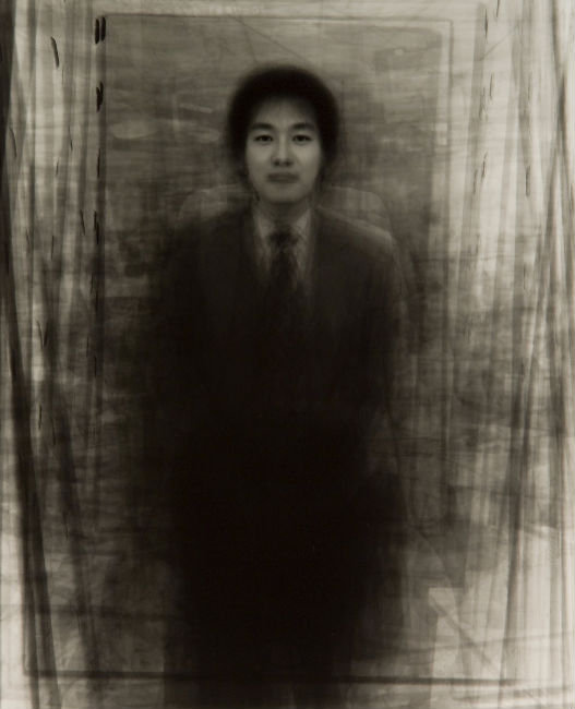 "Ken Kitano, ""Our Face Portrait: Piling Portraits of 40 Businessmen in Tokyo"" (1999-2002) ©Ken Kitano"