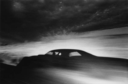 "Ikko Narahara: ""Shadow of car driving through desert, Arizona"", from the series ""Where Time Has Vanished"" 1971 ©Ikko Narahara"