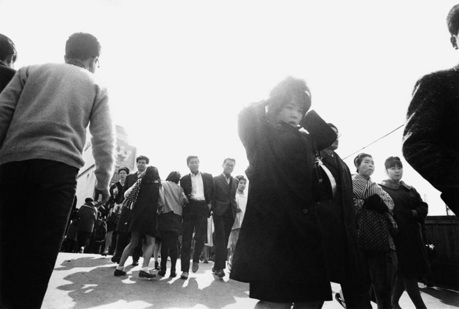 """Yutaka Takanashi: West Exit Square, Shinjuku Station, Shinjuku-ku, from the series """"Tokyo-jin"""", 1965"""