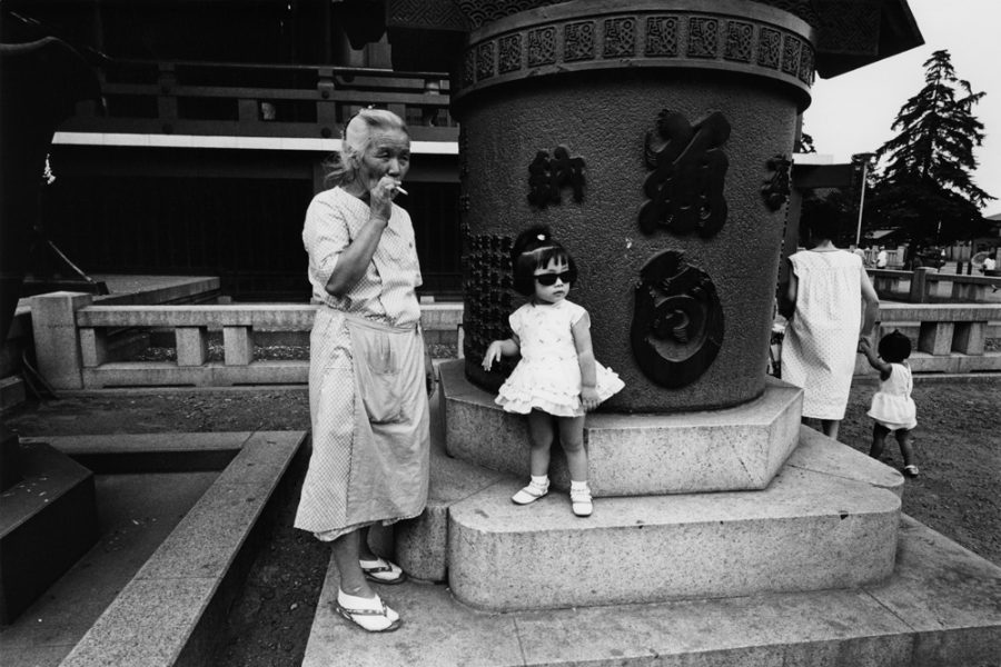 "Yutaka Takanashi: Sensoji-Temple, Taito-ku, from the series ""Toshi-e"", August 20, 1965"