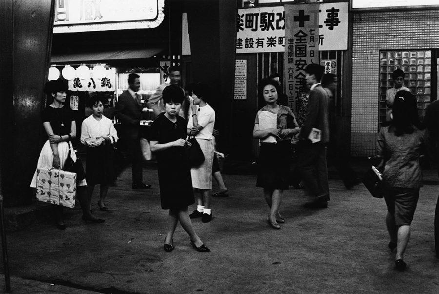 """Yutaka Takanashi: Chiyoda-ku, Yurakucho Station, from the series """"Tokyo-jin"""", 1965"""