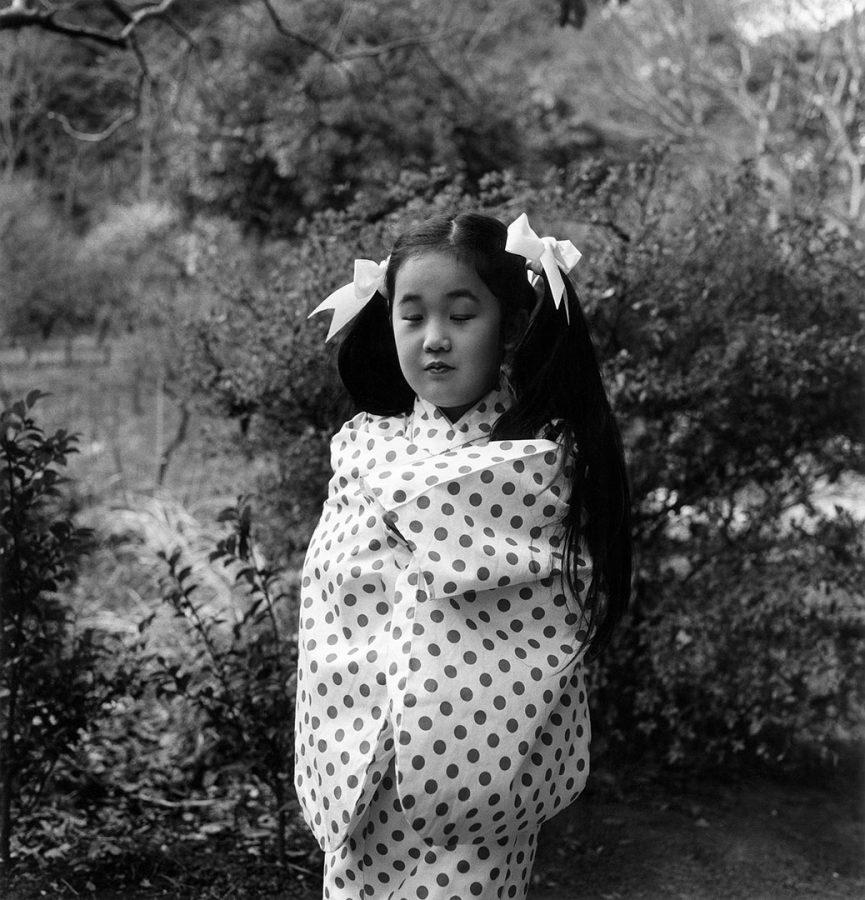 "ISSEI SUDA | ""Yokohama, Sankaien Garden, Plum Blossom Festival"", from the series ""Fushi Kaden"", 1977"